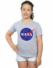 NASA Bambine e ragazze Classic Insignia Logo Maglietta