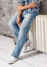 Joe Browns Jeans NEU Kurz-Gr.30,31,32 Destroyed Herren Blau Bleached Used Hose