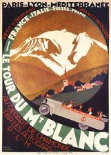 189976 ITALY SUISSE TOUR BLANC SKI MOUNT BLANC Print Poster Affiche