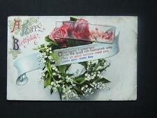 A Happy Birthday, Greetings Postcard, 1913
