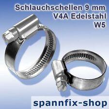 Schlauchschellen 8-12 mm A4 Edelstahl W5 Schnekengewindeschellen V4A Schellen