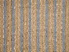 Tea Dye And Blue Homespun Ticking Fabric | Primitive Stripe Cotton Fabric