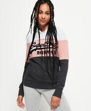 Nueva camiseta para mujer Vintage Logo alta construir Bordado Superdry suave con...