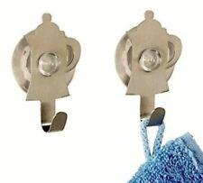 2 Ganci a ventosa o biadesivo acciaio inossidabile Wenko appendiabiti accessori