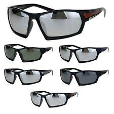 Xloop Mens Robotic Rectangular Warp Plastic Sport Sunglasses