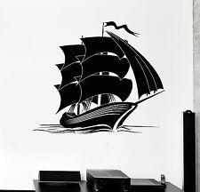 Wall Decal Ocean Marine Yacht Ship Decor for Kids Room Vinyl Stickers (ig2948)