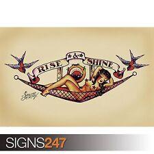 0017150 Sailor Jerry Mom Dad Tattoo Art Print//Poster