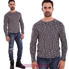 Maglioncino uomo pullover maglia cotone maniche lunghe casual nuovo L-2010