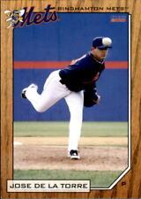 2010 Binghamton Mets Choice #3 Jose Delatorre Toa Baja Puerto Rico PR Card
