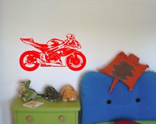 Wandtattoo Motorrad Rennmotorrad Sticker Aufkleber XXXL  25 Farben 8 Größen