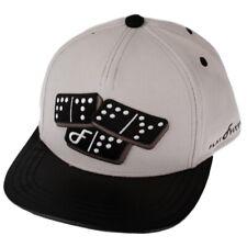 Flat Fitty Domino Strapback Cap Hat, Grey / Black, One Size
