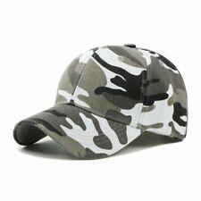 Camouflage Baseball Cap Fashion Adjustable Unisex Army Camo Cap Casquette Hat