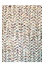Motif à vagues poil ras Tapis fait main laine Tapis tissé à la main Multi