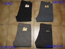 Pantalone Uomo Vita Bassa Slim Stretch Caviglia Stretta Taglia 42 44 46 48 50 52