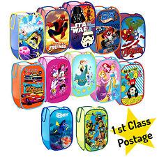 Genuine Disney Pop Up Mesh Cesto Cesto per biancheria Borsa Bin giocattolo Tidy Storage Kids