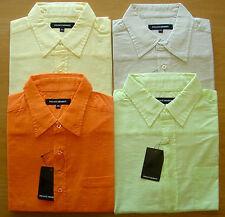 tamaño grande Caballeros Casual Verano Camisas, 100% Algodón Camisas 2xlA 5xl