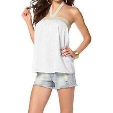 Laura Scott Damen Blusentop Top Neckholder Shirt Tunika Bluse weiß 889687