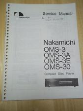 Nakamichi Service Manual~OMS-3/3A/3E/30 CD Compact Disc Player~Original~Repair