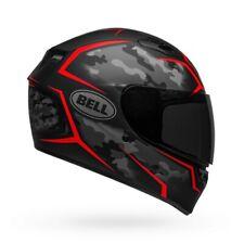 Bell Qualifier Stealth Camo Motorcycle Helmet Matte Black/Red