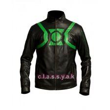 Classyak Mens Ryan Green Lantern Fashion Leather Jacket Black All Sizes