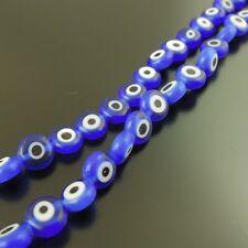Randelle Square Lampwork Glass Bead Evil Eye Hamsa Loose Spacer Beads 2 Strands
