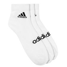 Adidas Linear Ankle HC Sock Black White 3er Unisex Pack Z11472 New Boxed