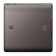 BG Nexus in metallo NBN94-nero nichel 1 Gang 1 G Coperchio Vuoto Vuoto Piastra Slimline