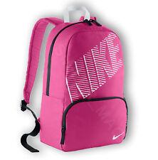 Nike Pink Backpack School Gym College Sport Kids Bag Jogging Running Walk Girls