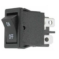 Wippschalter 125/250V AC 6/3A  21x 15mm 2x Ein-Aus schaltend schwarz Schalter