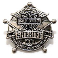 HARLEY DAVIDSON 100TH ANNIVERSARY SHERIFF PIN
