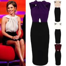 Ladies Celeb Inspired Cheryl Twist Knot Open Back Slim Bodycon Women's Dress