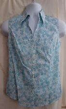 NWOT Brooks Brothers Turquoise / White 100% Cotton Blouse Sizes 6 8 10