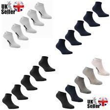 2-5 Pares de Calcetines de tobillo Slazenger Trainer Hombre Mujer Niños Blanco Negro Gris Azul Marino