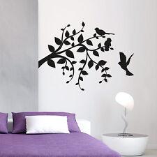 Wandtattoo Blätter Baum Ast Vogel Aufkleber Vögel Wall Art Wand Tattoo #2069