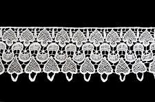 "3-3/8"" White Venice Lace Ribbon Trim By Yard"