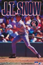 POSTER: MLB BASEBALL : J. T.SNOW - LOS ANGELES ANGELS -  FREE SHIPPING ! RW12 D