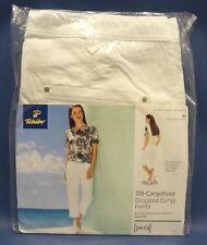 Tchibo 7/8 Damen-Cargohose Weiß Normale Passform Baumwoll-Stretch-Qualität