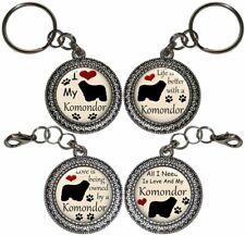 Komondor Dog Key Ring Key Chain Purse Charm Zipper Pull #2