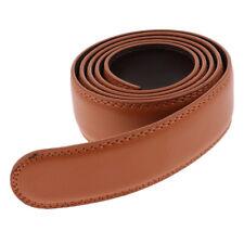 Pleine fleur 100/% italien hide ceinture en cuir marron coutures 40MM s m l xl xxl