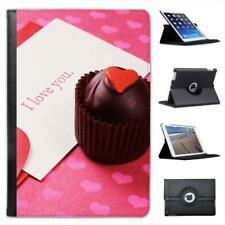 Chocolate Cupcake With I Love You Note Folio Leather Case For iPad Mini & Retina