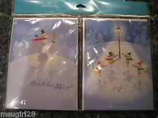NIP 6 Hallmark New Year Thank You Cards w/ glitter