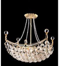 Palace Crown Gold 8 Light  Crystal chandelier light -Precio Mayorista