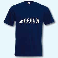 T-Shirt, Fun-Shirt, Evolution Kontrabass, Musik, Musiker, Jazz, S-XXXL