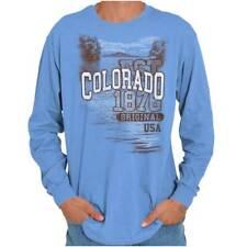 Colorado Centennial State Camping Souvenir Long Sleeve Tees Shirts T-Shirts