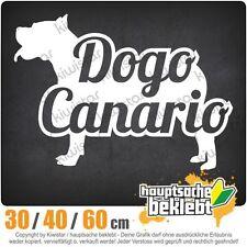 Dogo Canario mit Name Hund chf0748  in 3 Größen JDM  Heckscheibe Aufkleber