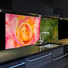 Digitaldruck auf Glas 1046-1-GB Motiv Rose für Ihre Küche oder als Bild