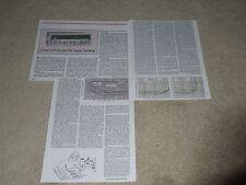 Sansui G-7700 Receiver Review, 1980, 3 pgs, Specs, Info