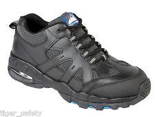 Himalayan 4041 SBP SRA Negro Cuero Burbuja De Aire Seguridad Puntera De Acero Zapatos Entrenadores