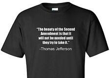 Thomas Jefferson T-Shirt America Constitution Second 2nd Amendment Pro Gun Shirt