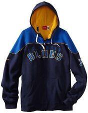 NEW REEBOK Saint Louis Blues Full Zip Track Hoodie Jacket Sweatshirt Blue NHL
